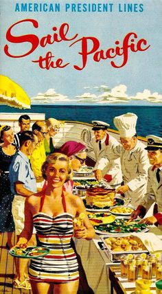 i love vintage posters: cruising looks fun in this scene.