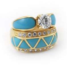 Diamonds, gold and turquoise...