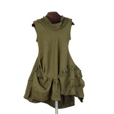 """Farb-und Stilberatung mit www.farben-reich.com """"At last I am free I can hardly see in front of me"""" sculpted linen dress by Secret Lentil"""