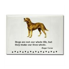 Chesapeake Bay Retriever Quote Rectangle Magnet