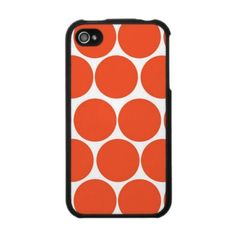 orange & white polka dot case. Dareen Hakim Collection | Chic. Bold. Unexpected. | www.dareenhakim.com
