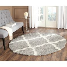 Shop for Safavieh Dallas Shag Grey/ Ivory Rug (6' Round). Get free shipping at Overstock.com - Your Online Home Decor Outlet Store! Get 5% in rewards with Club O!