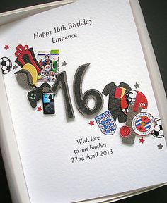 personalised 13th 14th 15th 16th birthday card for boys son