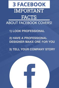 3 Facebook facts on why you should have a professional cover done. Click the picture to learn more.