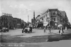 Cairo - Street Nubar in the thirties Almost Old Egypt, Cairo Egypt, Naher Osten, Tahrir Square, Golden Days, The Old Days, Cool Photos, Interesting Photos, Vintage Pictures