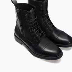ZARA - SALE - ZIPPED LEATHER BOOTS