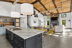 Stebnitz Builders has designed this modern pole barn house located in the northern outskirts of Elkhorn, Wisconsin. Metal Pole Barns, Pole Barn Homes, Lauderdale Lakes, Nevada Homes, Modern Farmhouse Plans, Corrugated Metal, Kitchen Art, Large Windows, Elkhorn Wisconsin