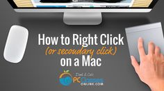 """If you're new to the Mac world, you are likely familiar with """"right clicking"""" on a PC, but you may not have discovered the Mac version yet. It's often referr. Mac Tips, Computer Technology, Apps, Tutorials, Iphone, Youtube, App, Youtubers, Youtube Movies"""