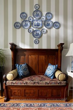 using Blue and White China as wall art