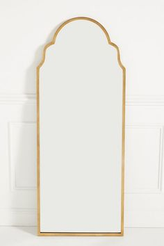 Adelaide Floor Mirror by Anthropologie in Brown, Wall Decor Cool Mirrors, Beautiful Mirrors, Diy Mirror, Sunburst Mirror, Gold Floor Mirror, Mirror House, Mirror Ideas, Wall Mirror, Diy Wall Decor