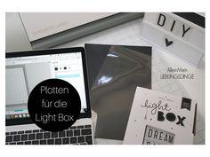 Light Box, Platten, Tutorial, DIY, Light Box beplotten, Plotteridee, Buchstaben plotten, Vinylfolie, Blogger