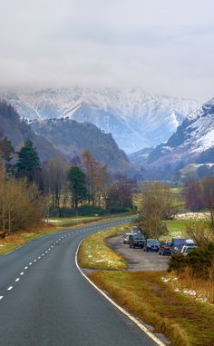 To Keswick ( & - .uk - - licensed under a Creative Commons Attribution-NonCommercial-ShareAlike Unported License Beautiful Roads, Beautiful Landscapes, Beautiful World, Beautiful Places, Cool Places To Visit, Great Places, Places To Go, Cumbria, English Countryside