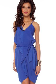 AV Dress in Royal Blue $40 at www.tobi.com