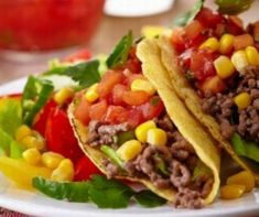Photo about Delicious Mexican tacos isolated over white background. Image of restaurant, mexican, delicious - 18128753 Mexican Food Recipes, Beef Recipes, Cooking Recipes, Ethnic Recipes, Ground Beef Tacos, Homemade Tacos, Main Dishes, Health Fitness