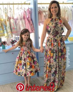 s Clothing Children' Mom Daughter Matching Outfits, Mommy Daughter Dresses, Mother Daughter Fashion, Family Outfits, Kids Outfits, Baby Dress Patterns, African Fashion Dresses, Beautiful Outfits, Girls Dresses