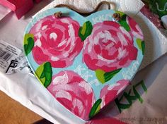 step by step to paint a Lilly plaque (for my Lily)