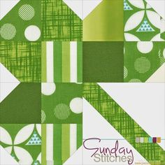 "Piece N Quilt: How to: Clover Quilt Block Tutorial - Sunday Stitches--sharing a St. Patricks Day tutorial...I've created this tutorial with three size options, you could make multiple 12"" blocks and make this into a quilt, or make the larger 18"" block into a little table topper, or make the 18"" block into a fun wall hanging."