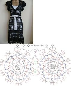 crochet diagram for this beautiful summer dress!