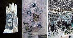 Mandy Pattullo is a textile artist that uses recycled materials and is based in Northumberland. Here she talks about her work 'Memento Mori. Quilt Studio, Fiber Art Quilts, Form Drawing, Textile Texture, Textiles, A Level Art, Sketchbook Inspiration, Memento Mori, Textile Artists