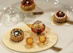 miniature tea set and cake