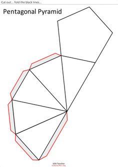 piramide pentagonal para recortar