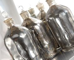 vintage mercury glass jars... it's been years since we had any of these -must source again