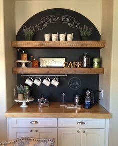 Haz tu propio Coffee Bar en Casa, una barra de cafe en la cocina