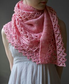 Ume Shawl By Andrea Rangel - Purchased Knitted Pattern - (ravelry)