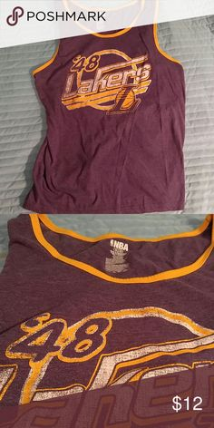 Classic Los Angeles Lakers 1948 tank top XL Vintage style Lakers tank top. Official NBA merchandise in fantastic shape! NBA Shirts Tank Tops
