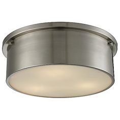 Simpson Flushmount (Brushed Nickel/Large) - OPEN BOX RETURN by ELK Lighting at Lumens.com