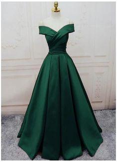 Stunning Prom Dresses, Pretty Prom Dresses, A Line Prom Dresses, Cute Dresses, Dark Green Prom Dresses, Long Elegant Dresses, Prom Dresses Long Sleeve, Prom Dresses For Teens Long, Long Ball Dresses