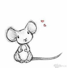 Cute drawing with mouse.