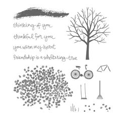 Sheltering Tree Photopolymer Stamp Set By Stampin Up