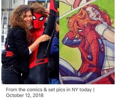 I just love Spiderman and the both MJ Hq Marvel, Marvel Funny, Marvel Dc Comics, The Avengers, Avengers Memes, Marvel Memes, Tom Holland, Dc Memes, Marvel Cinematic Universe
