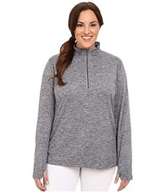 Nike Womens DriFIT Extended Element 12 Zip Dark GreyHeatherReflective Silver Outerwear 2X -- Find out more about the great product at the image link. (This is an affiliate link) #WomensActivewear