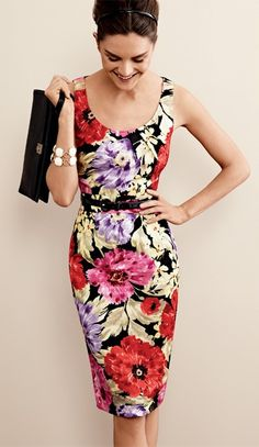 Banana Republic Linda Floral Dress~just picked this up on sale! However be sure to size up...a bit narrow through the hips for sure.
