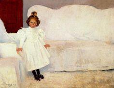 art-centric: Ramon Casas Carbo - Little Catalunian Girl
