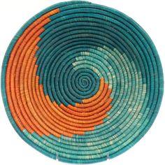 African Baskets – Uganda Millet, Raffia and Banana Fiber Baskets Handwoven out of Banana Stalks and Raffia, these Ugandan baskets are nicely woven with large, even coils. Rope Basket, Basket Weaving, Hand Weaving, Crochet Motifs, Crochet Patterns, Mochila Crochet, Pine Needle Baskets, Tapestry Crochet, Baskets On Wall