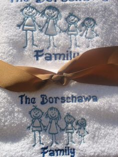 We are FAMILY- and we have towels to prove it :)
