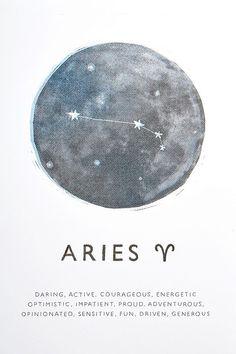 Shop Ohh Deer Aries Horoscope Wall Art Print at Urban Outfitters today. Arte Aries, Aries Art, Aries Astrology, Zodiac Signs Aries, Aries Horoscope, Zodiac Art, Capricorn Facts, Zodiac Traits, Aries Wallpaper