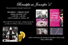 Breakfast at Tiffany's style invite but with the host's name