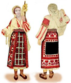 Photo by Sabina Solonaru Folk Embroidery, Embroidery Patterns, Floral Embroidery, Traditional Fashion, Traditional Dresses, Folk Costume, Costumes, Young Frankenstein, Folk Dance