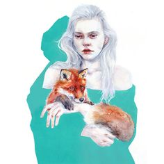 🦊 𝗚𝗘𝗡𝗧𝗟𝗬 𝗧𝗢𝗚𝗘𝗧𝗛𝗘𝗥 🦊 by @agnes_cecile plays with simplicity and melancholy with a mesh of orange tones emerging from a green watercolour shadow-like figure. 🌼 This emerging Artist is always there to enlighten us with deep thoughts and allegorical paintings 🌼 🖼️ Get your 𝑭𝑹𝑨𝑴𝑬𝑫 𝑨𝑹𝑻 𝑷𝑰𝑬𝑪𝑬, Multiple Original only @eyesonwalls / eyesonwalls.com 🌊 Be water, My friend 🌊