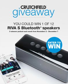 I entered the @Crutchfield Sweeps to win 1 of 12 @rivanation S BT speakers. You can too – #GGGEntry #win