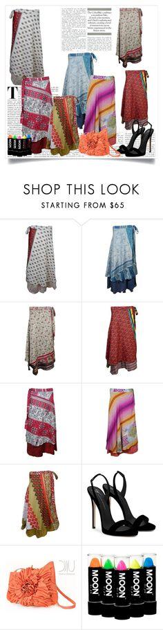 """Women's Western Fashion Wrap Skirts"" by royalimports ❤ liked on Polyvore featuring Giuseppe Zanotti"