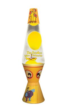 """Show details for 14.5"""" Yellow Submarine Lava Lamp with Yellow Wax & Clear Liquid"""