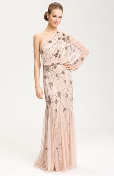 Adrianna Papell Beaded One Shoulder...    $298.00