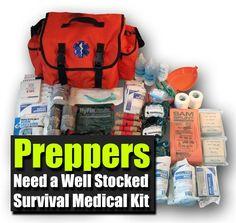 Preppers Need a Well Stocked Survival Medical Kit - SHTF, Emergency Preparedness, Survival Prepping, Homesteading