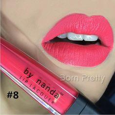 $ 1,99 1pc Matte Lip Gloss UV de longa duração Hidratante Lip Gloss 8 cores - BornPrettyStore.com