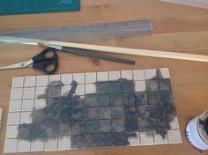 Painting tiles to make them look like slate
